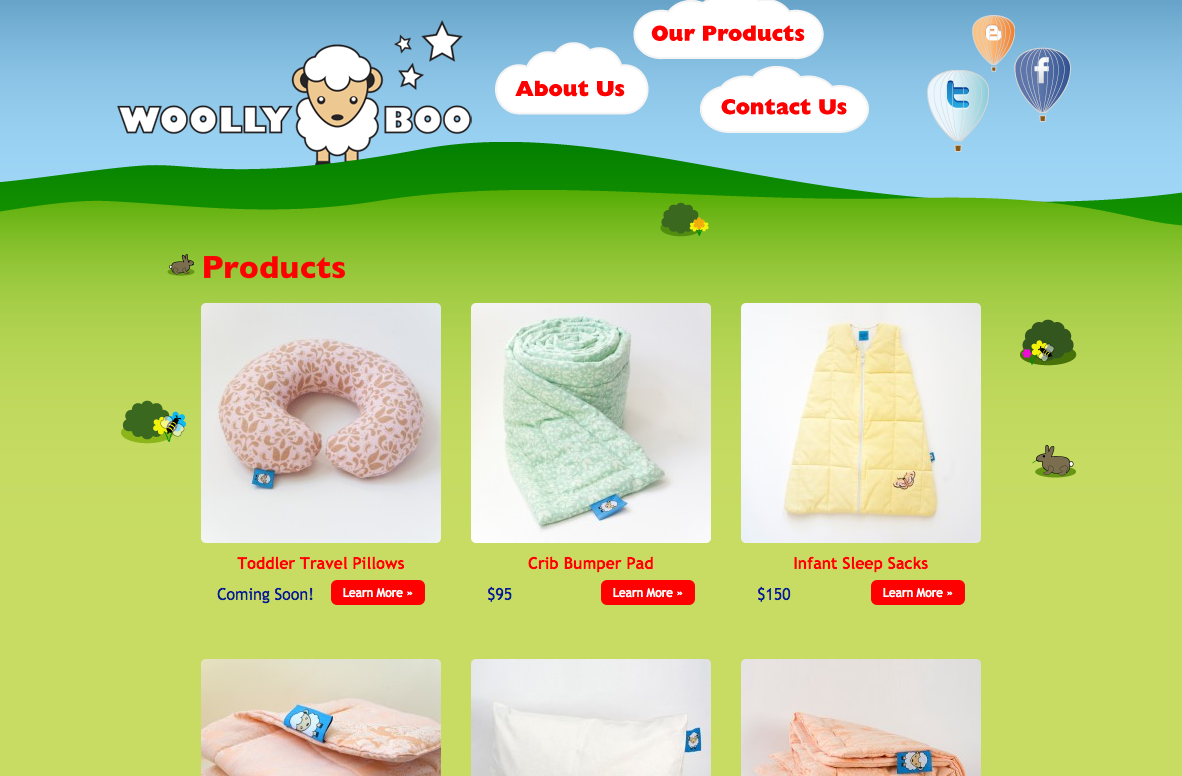 Woolly Boo Product Catalog