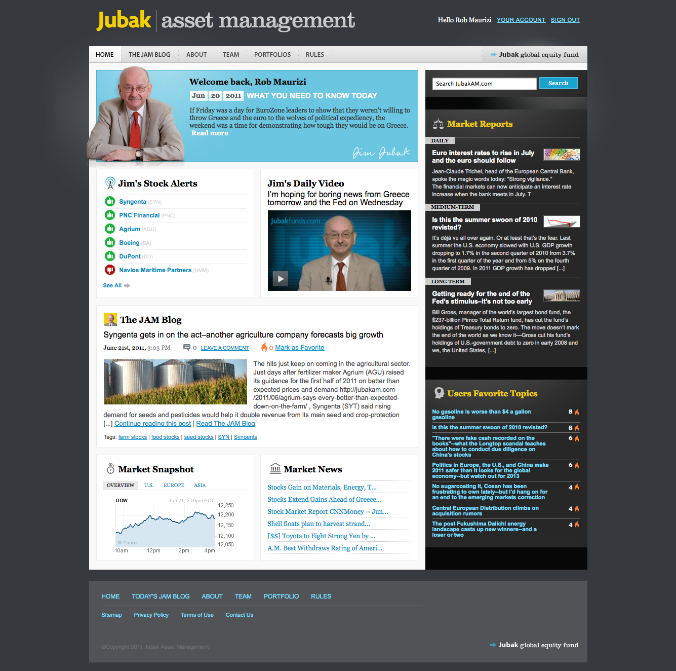 Jubak Asset Management Homepage