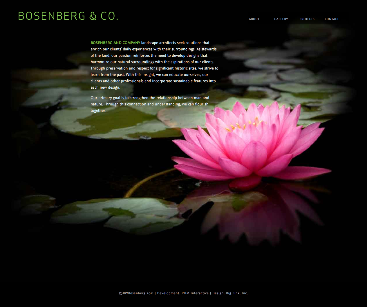 Bosenberg & Co. Homepage