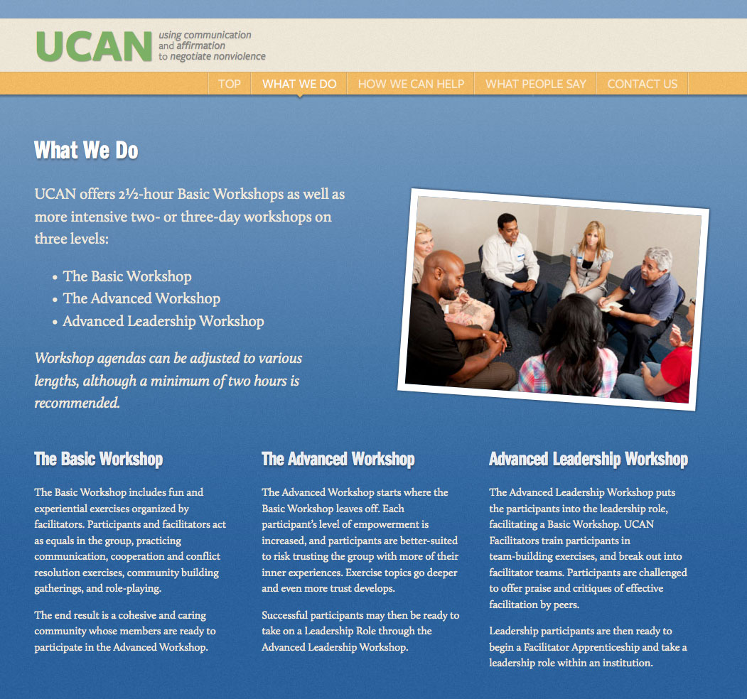 UCAN What We Do Page