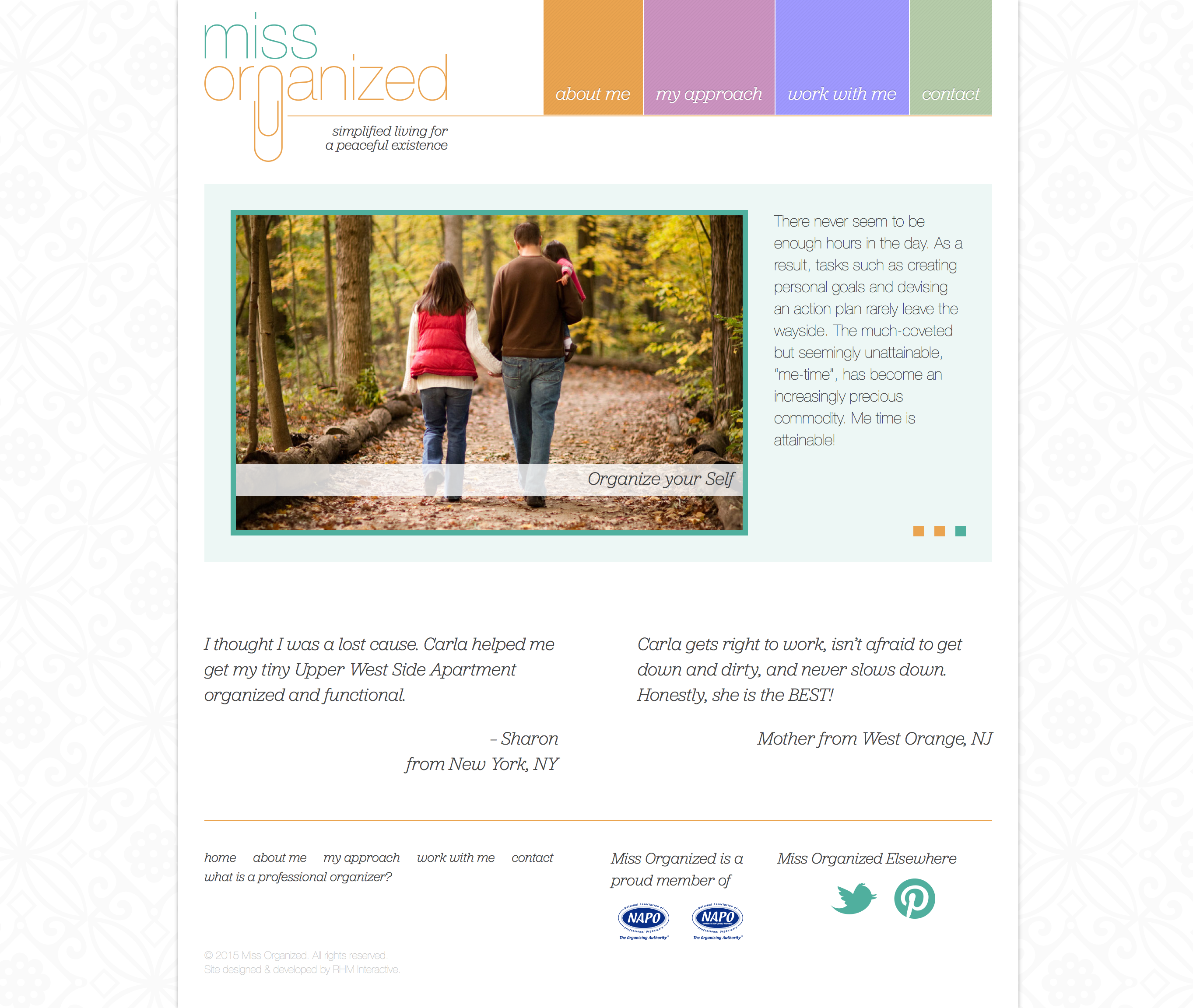 Miss Organized Homepage